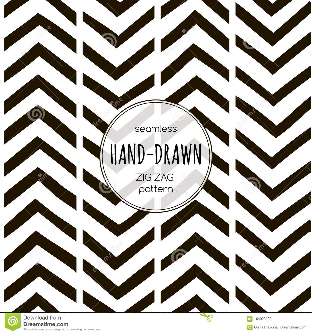 black and white seamless zigzag pattern vector template stock