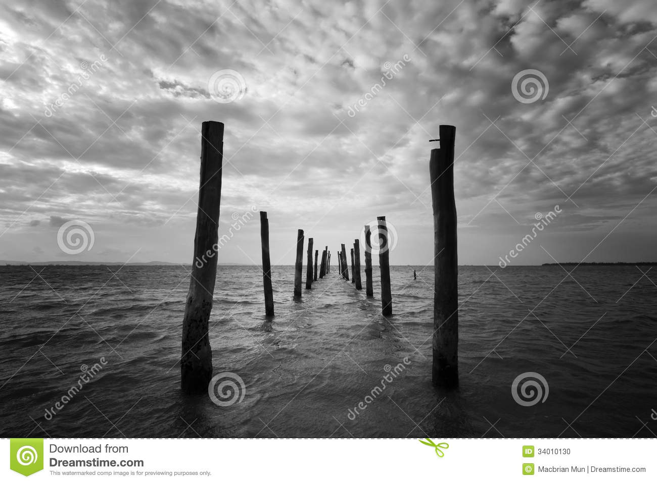 black and white seascape with wooden pillars stock photo Metal Plank Texture Vector Wood Grain Texture Vector