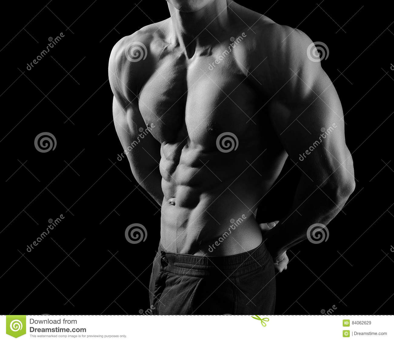 Download Black And White Shots Of A Male Fitness Model Stock Image - Image of male, motivation: 84062629