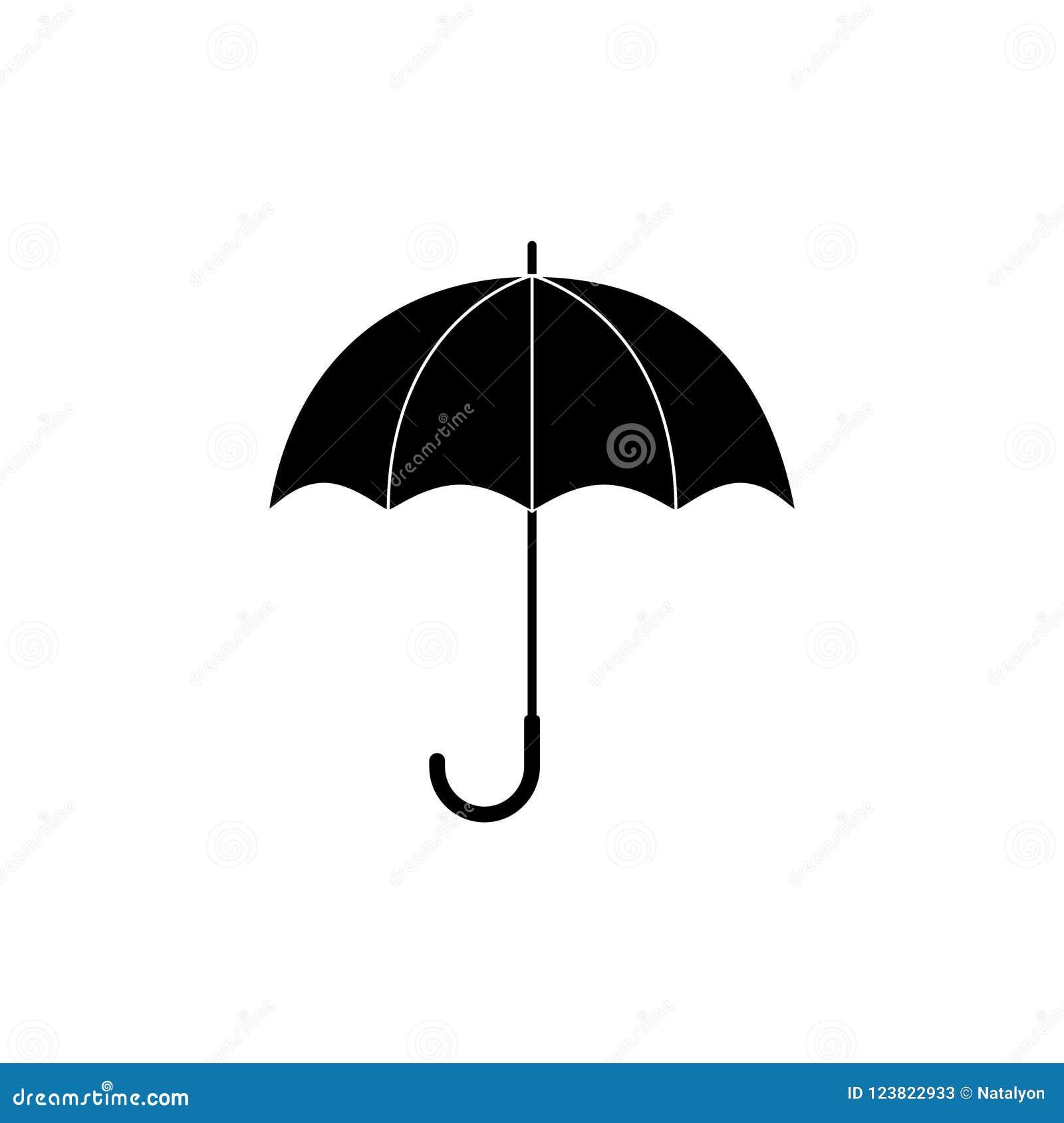 a65e1d3aace98 Black And White Simple Umbrella Silhouette, Vector Stock Vector ...