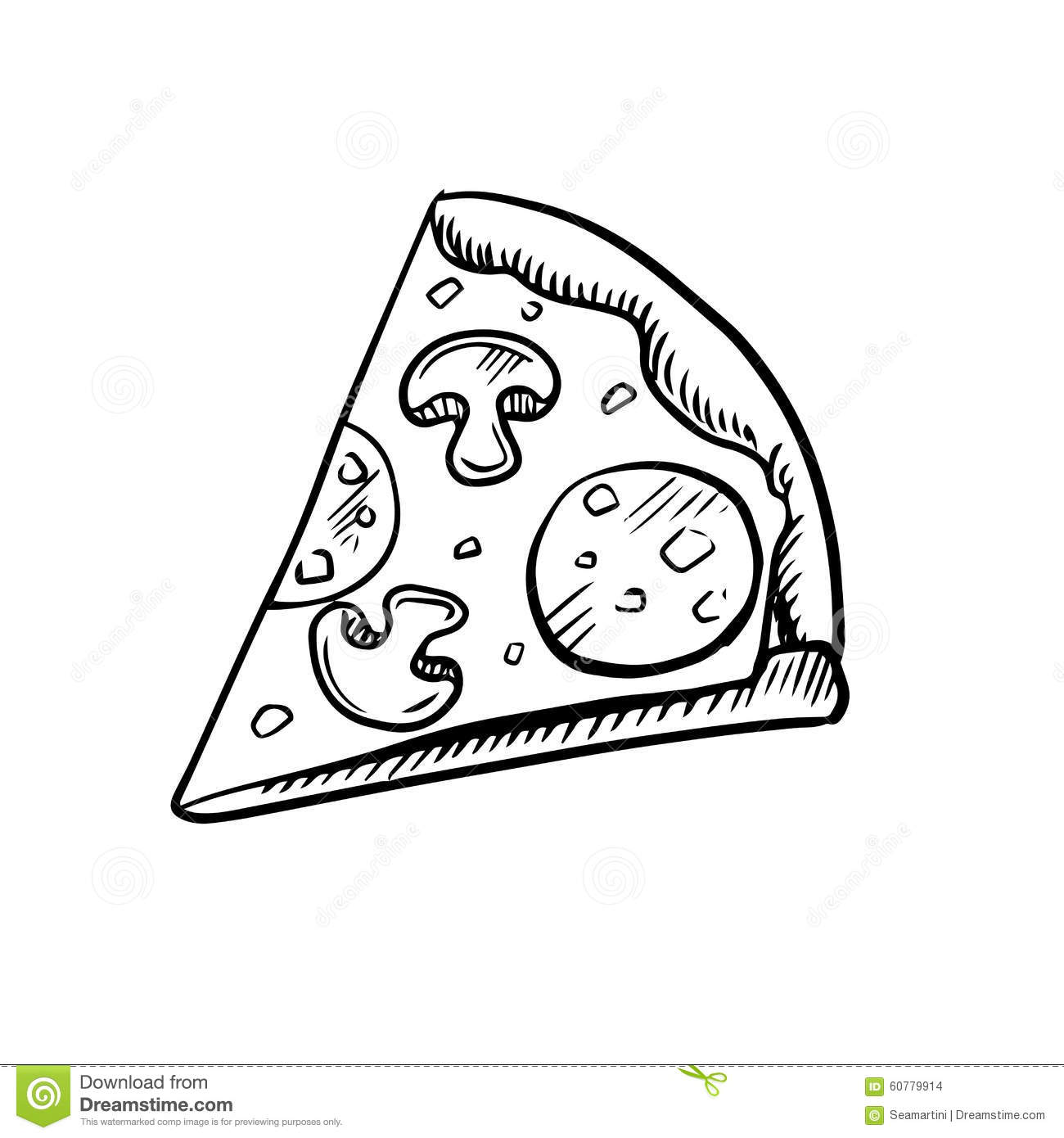 black and white slice of pepperoni pizza stock vector pizza slice clipart pizza slice clipart no background