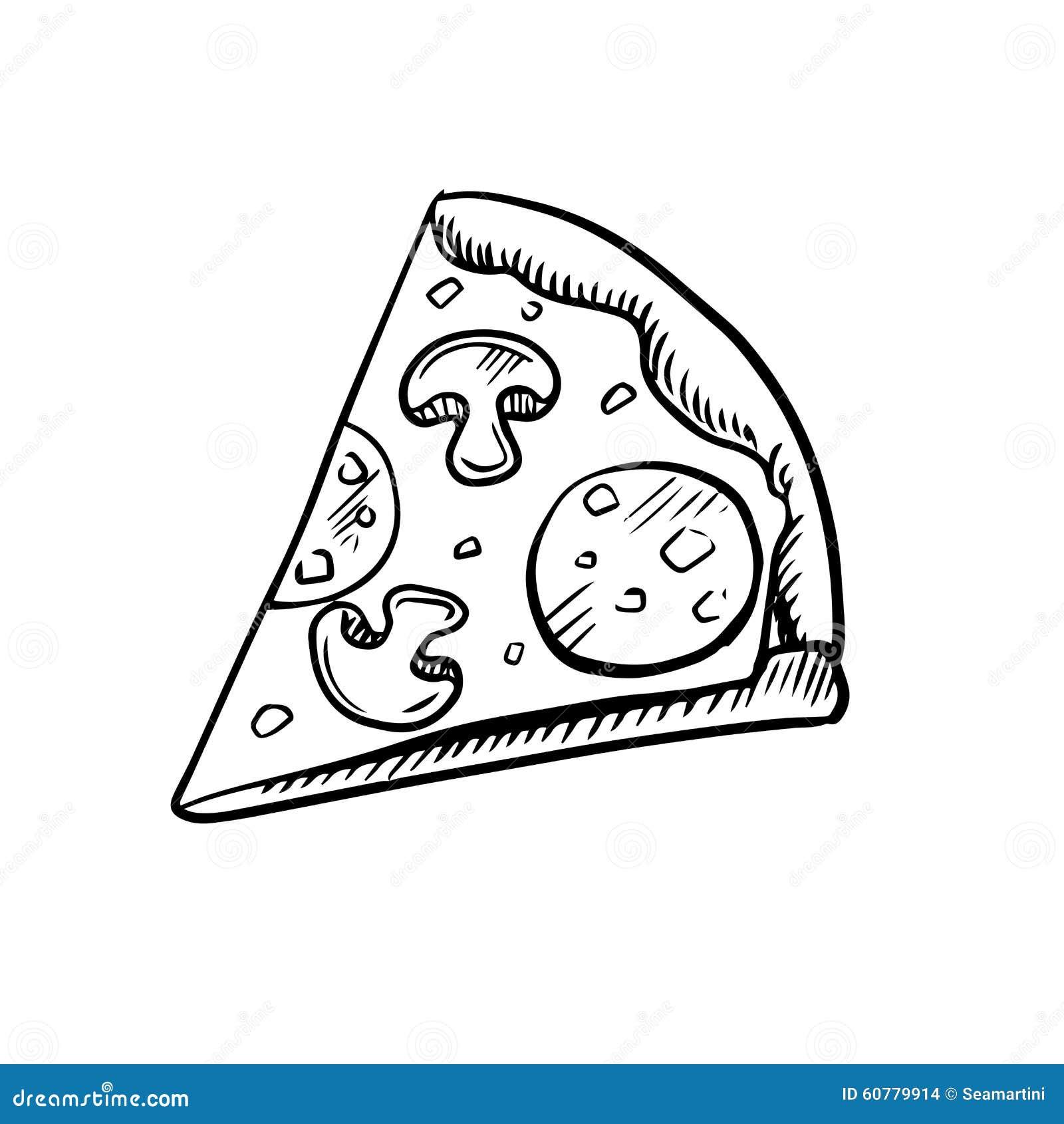 black and white slice of pepperoni pizza stock vector clip art pizza slice face clipart cheese pizza slice