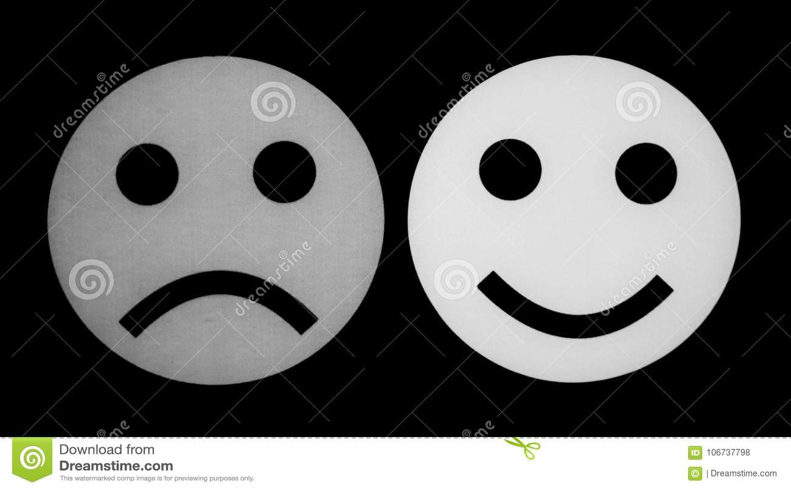 Sad face emoji black and white