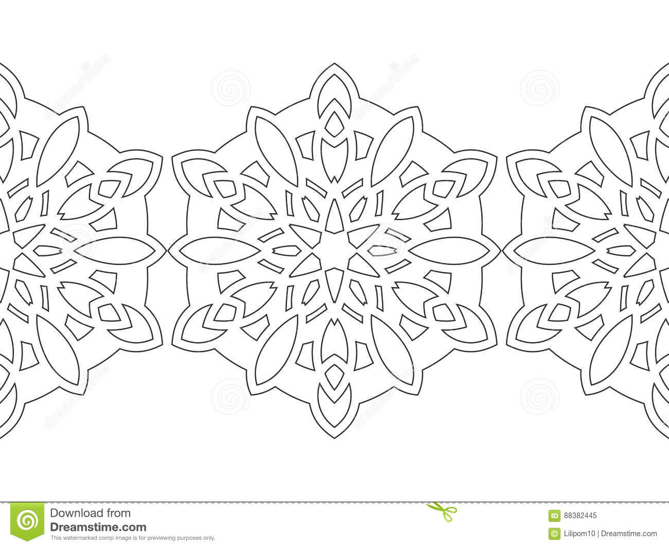 Black And White Snowflakes For Coloring Book Christmas