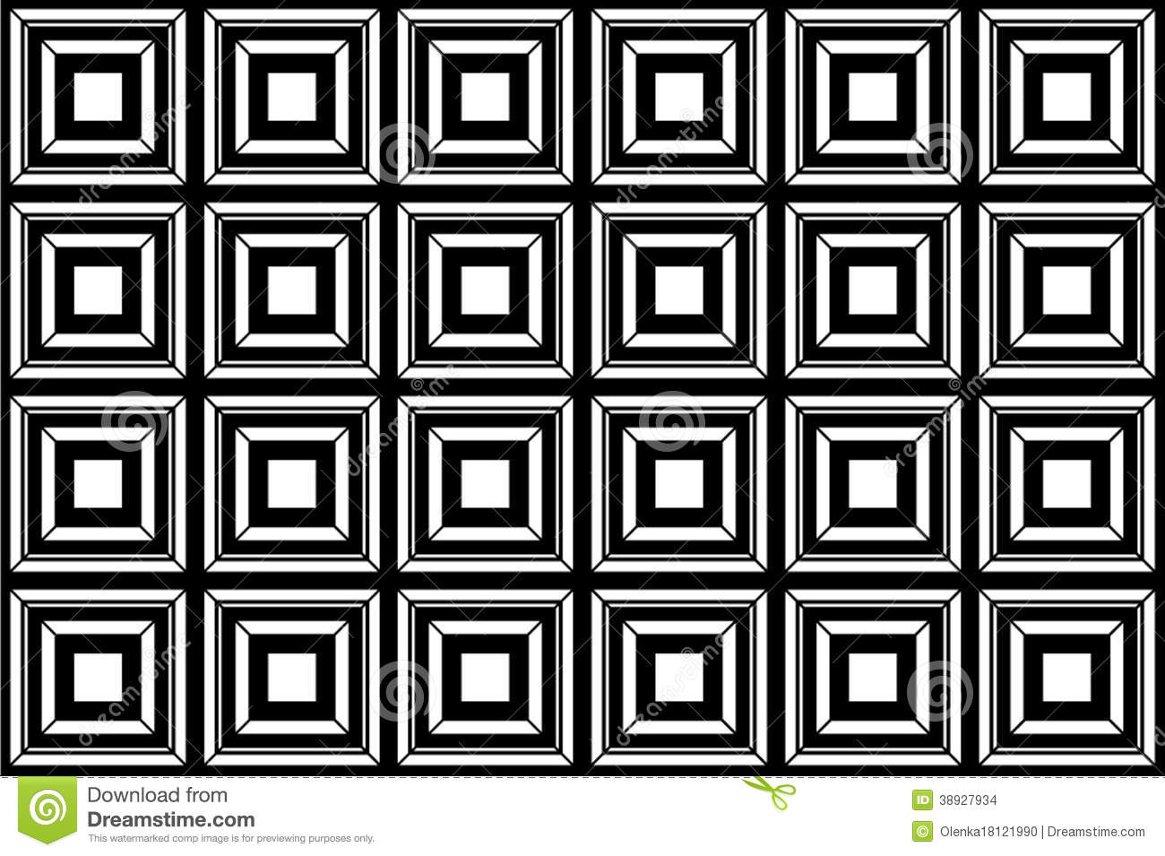 Black And White Square Background Stock Illustration ...