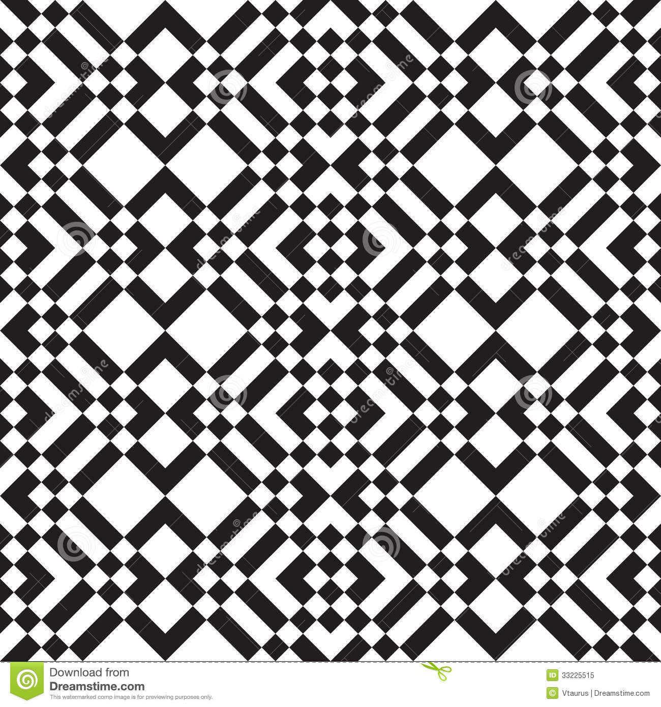 Black And White Squares And Stripes Stock Vector Image