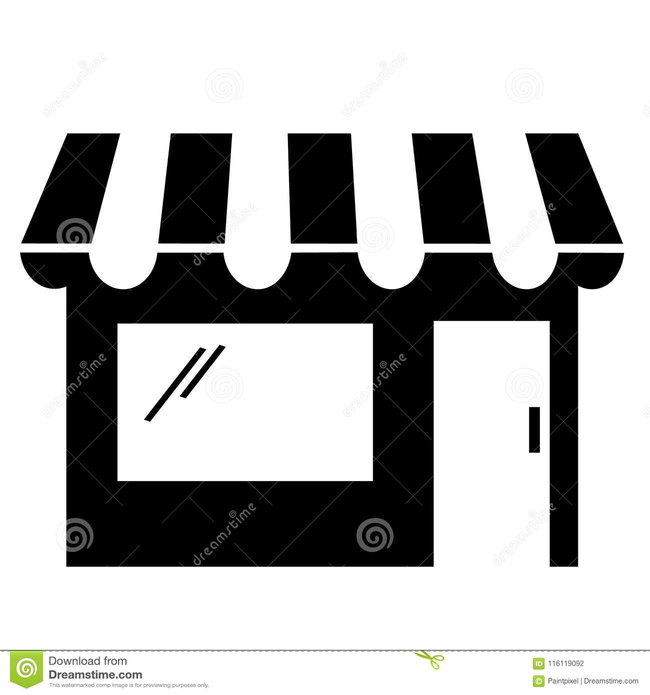 Black And White Storefront Clipart Stock Vector ...