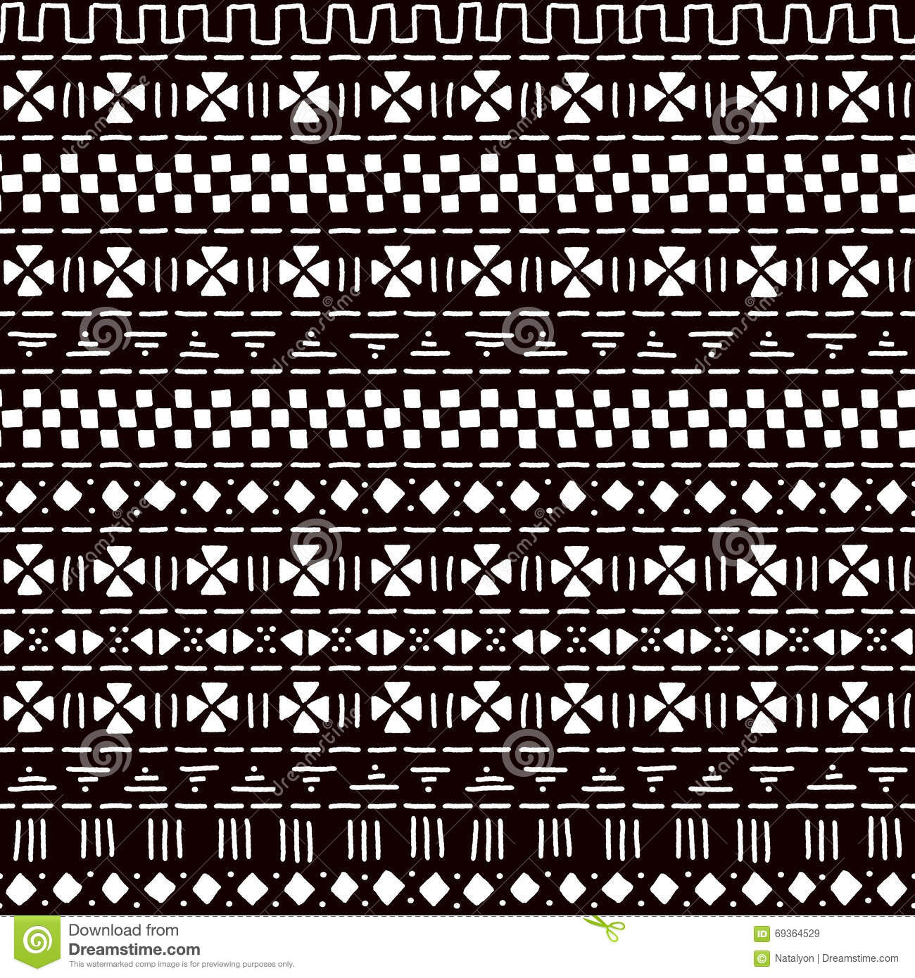 Black And White Striped Ornament Traditional African