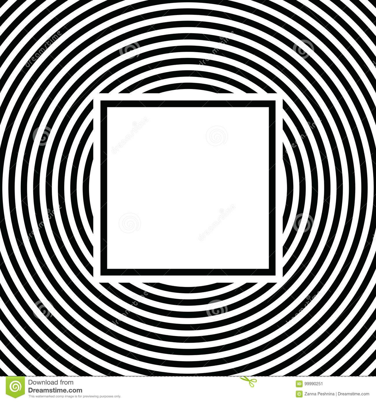 Black And White Stripes Pattern Background With Text Box Design