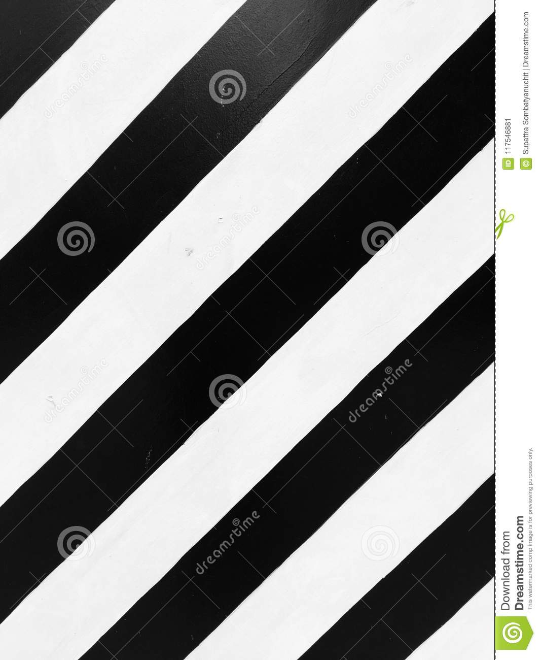 The black and white surface is a contrasting color