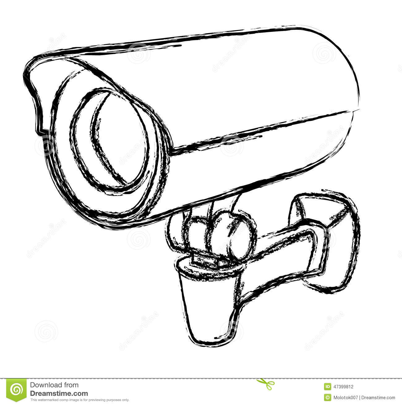 Black And White Surveillance Camera (CCTV) Warning Sign Stock Photo ...
