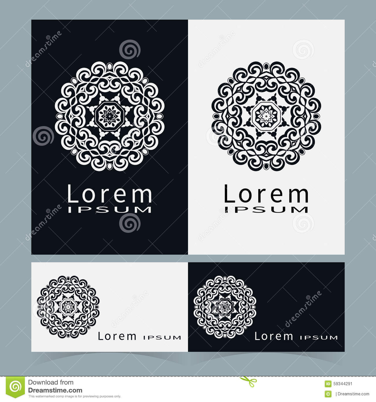 Black and white symbol stylized flower collection stock vector download comp reheart Images