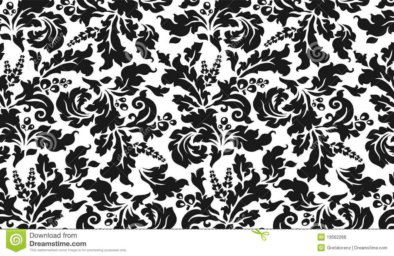black and white tapestry with flowers royalty free stock. Black Bedroom Furniture Sets. Home Design Ideas