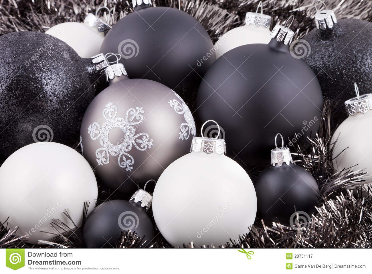 download black white and taupe christmas decorations stock image image of celebration decoration