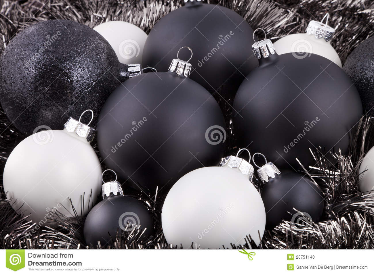 download black white and taupe christmas decorations stock photo image of seasonal christmas