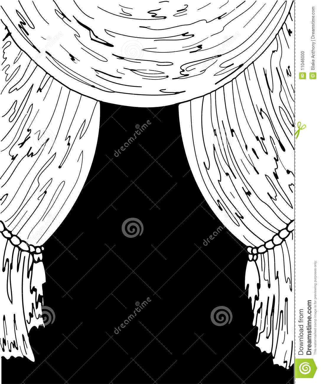 Royalty Free Stock Photo. Download Black And White Theater Curtains ...