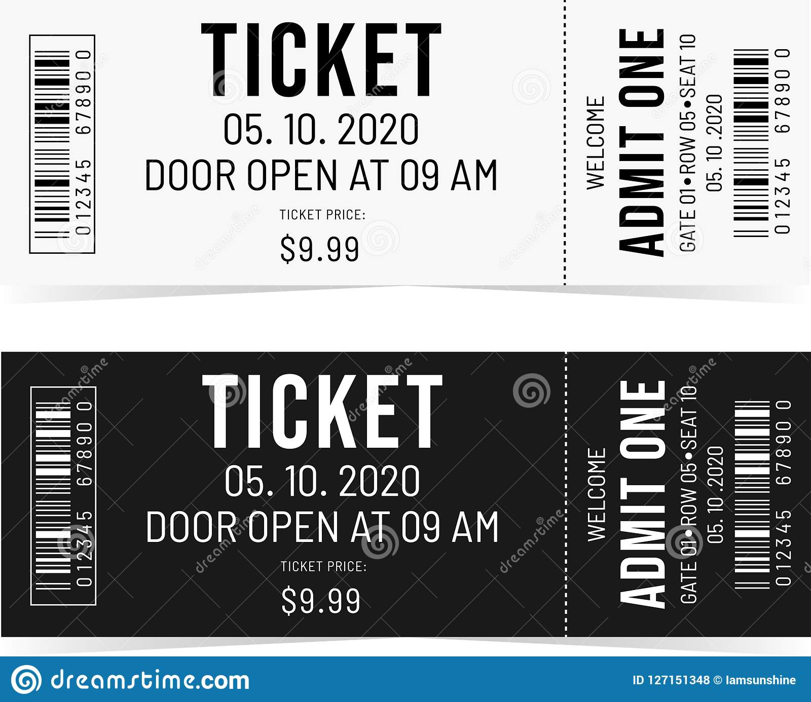 Black and White tickets