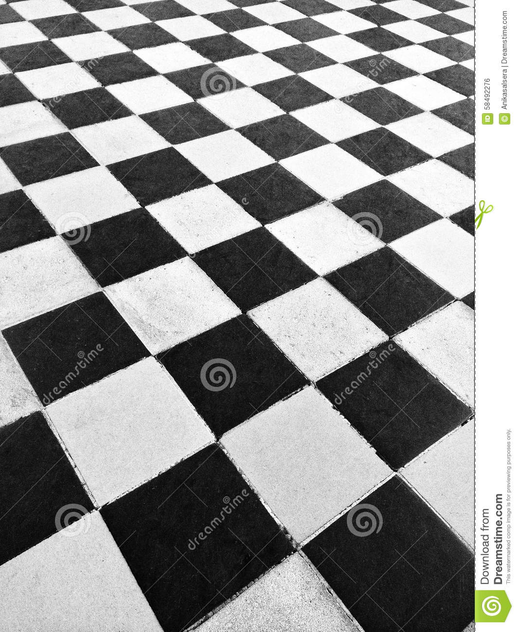Black and white tile floor stock photo image 58492276 for Black and white tile floors