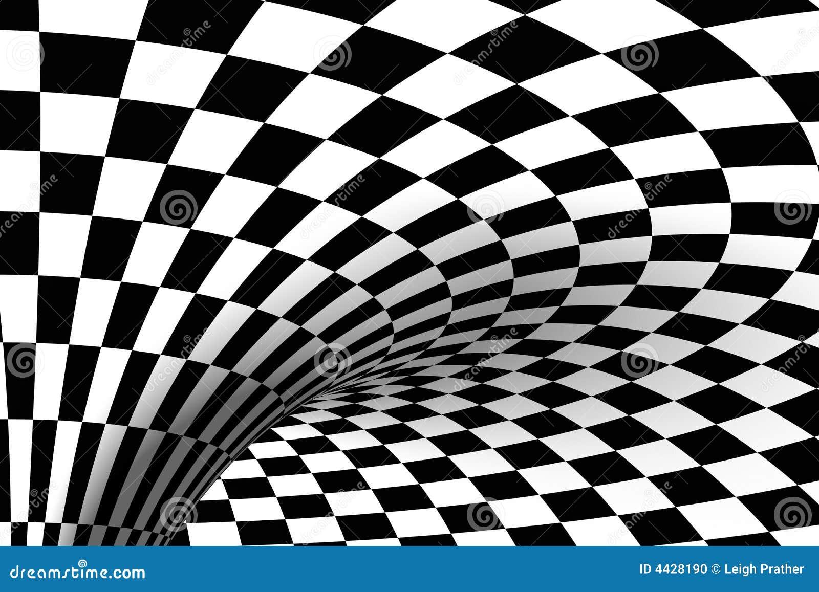 Black & White tiled background