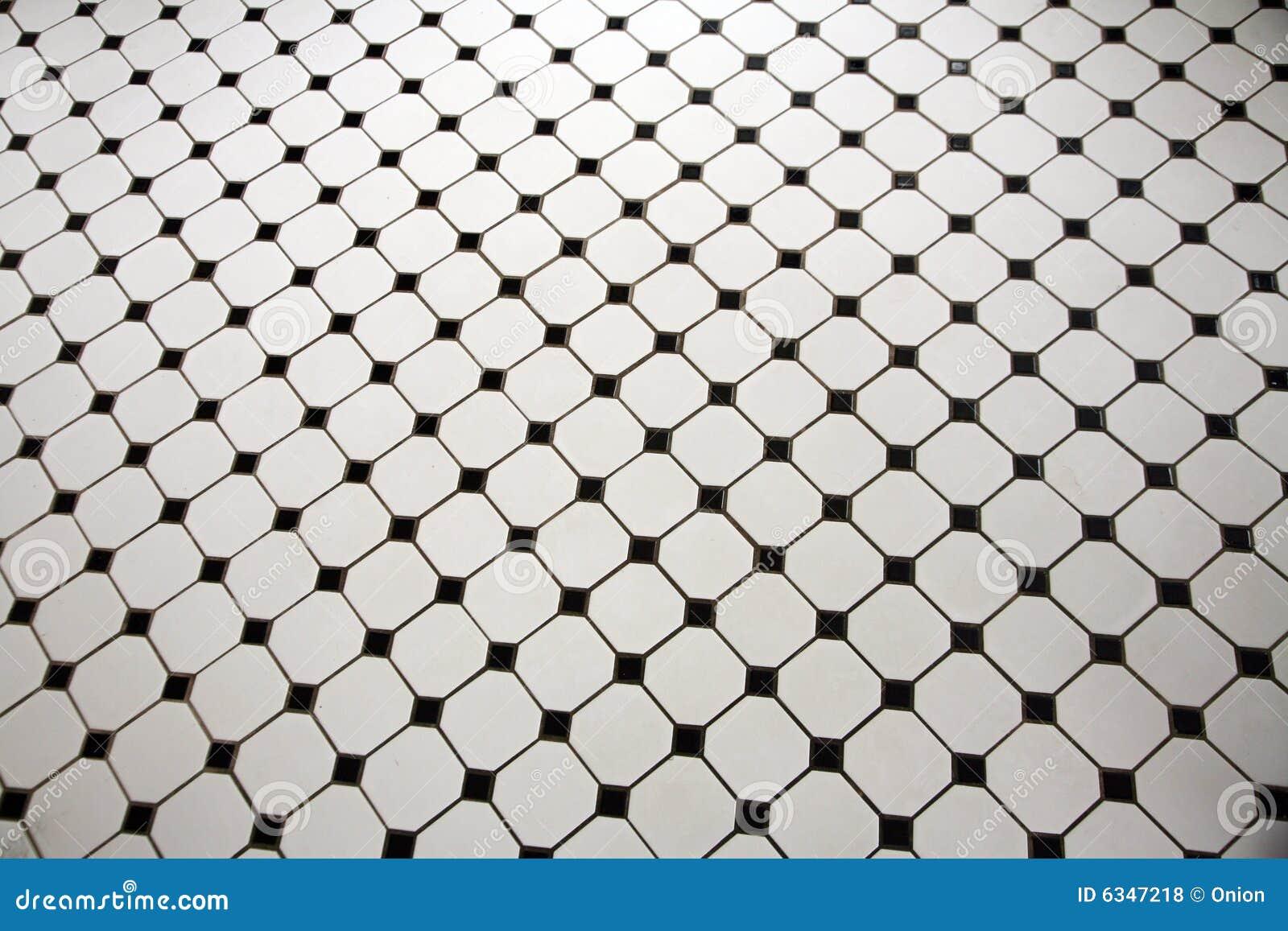 Black And White Tiled Floor Royalty Free Stock Photos Image 6347218. Black And White Tiled Floor  White Black Basketweave Mosaic Tiles