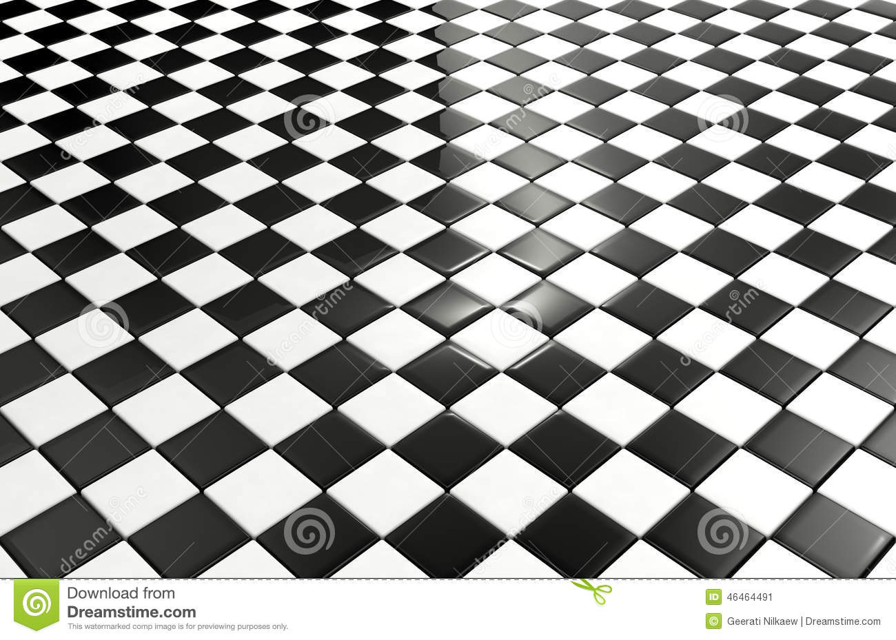 Black And White Tiles Background Stock Illustration Image 46464491