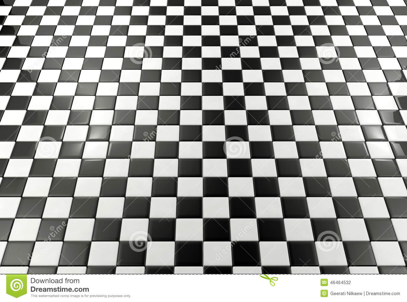 Black and white tiles background stock illustration for Black and white tile floors