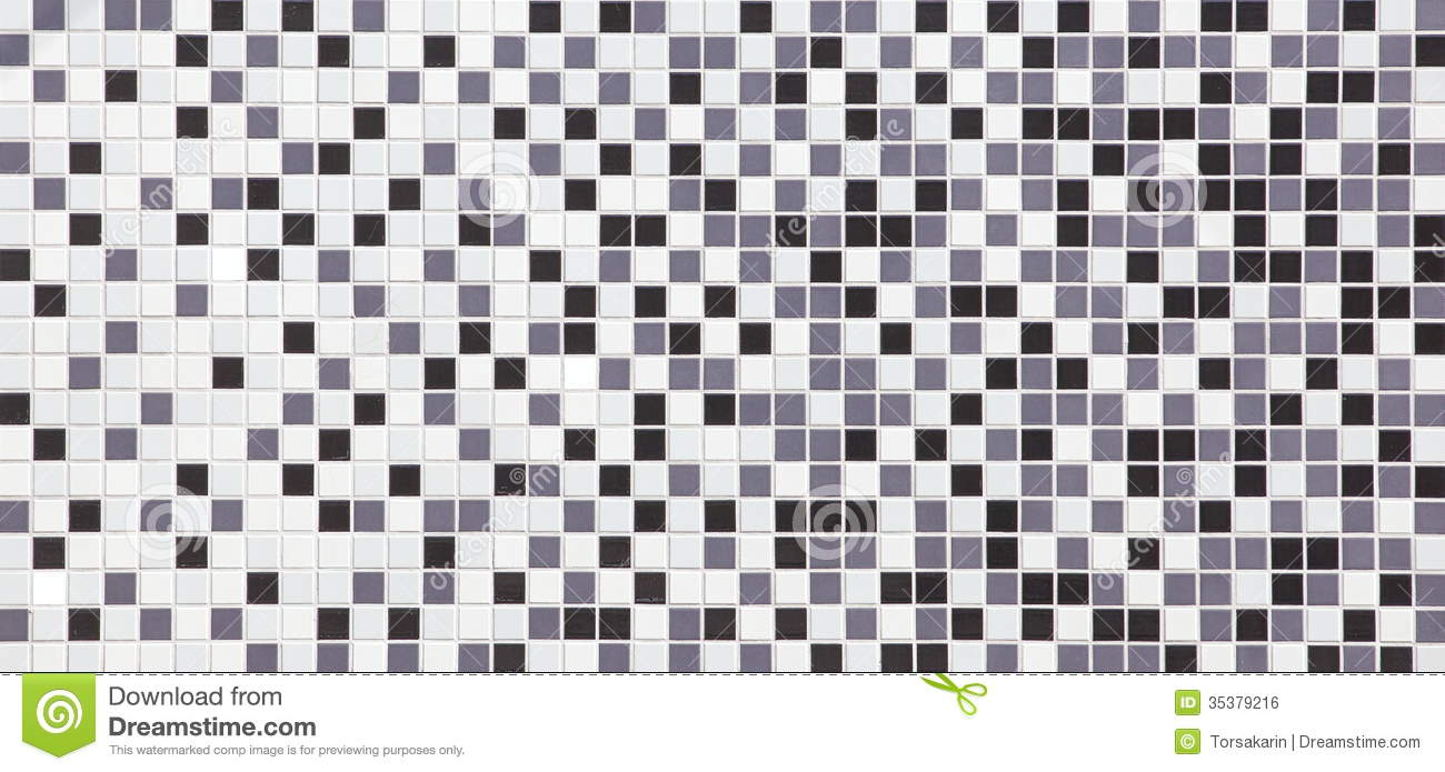 Black And White Tiles Texture Seamless Stock Photo