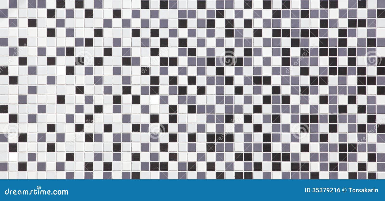 Black And White Tiles Texture Seamless Royalty Free Stock