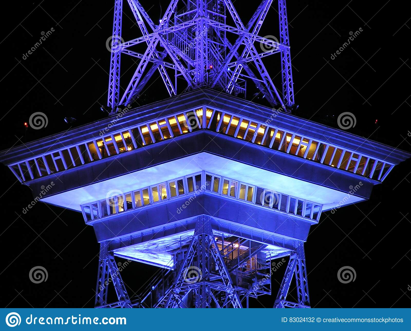 Download Black And White Tower During Nighttime Stock Photo - Image of tower, building: 83024132