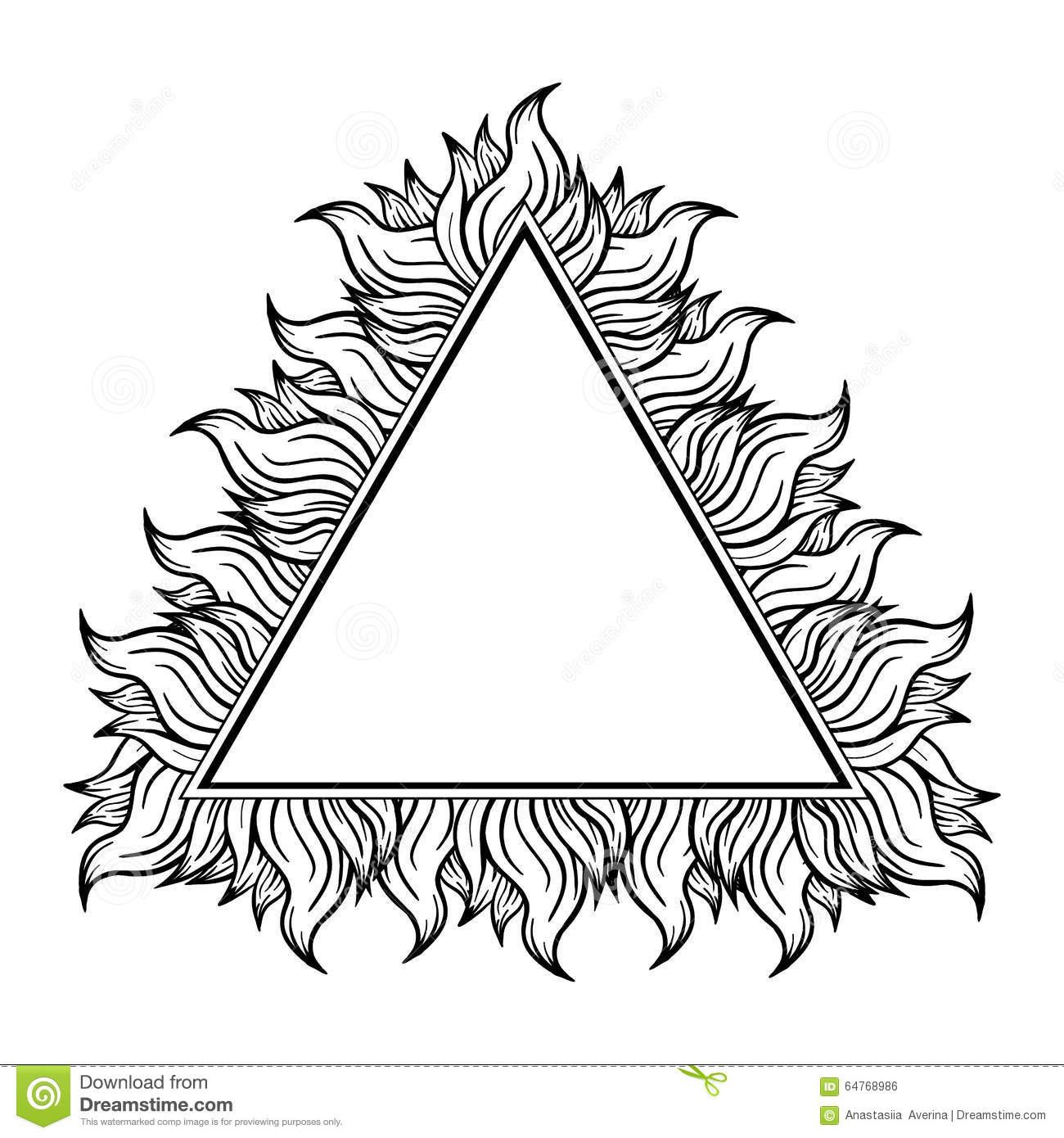 Colorful Triangle Frame With Spurts Of Flame. Vector Illustration ...