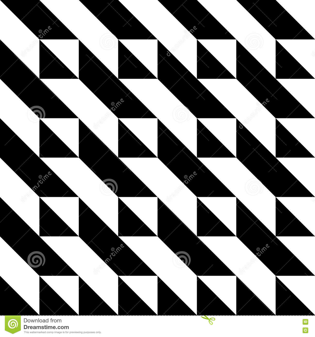 Black And White Triangle Pattern Stock Vector - Image ...