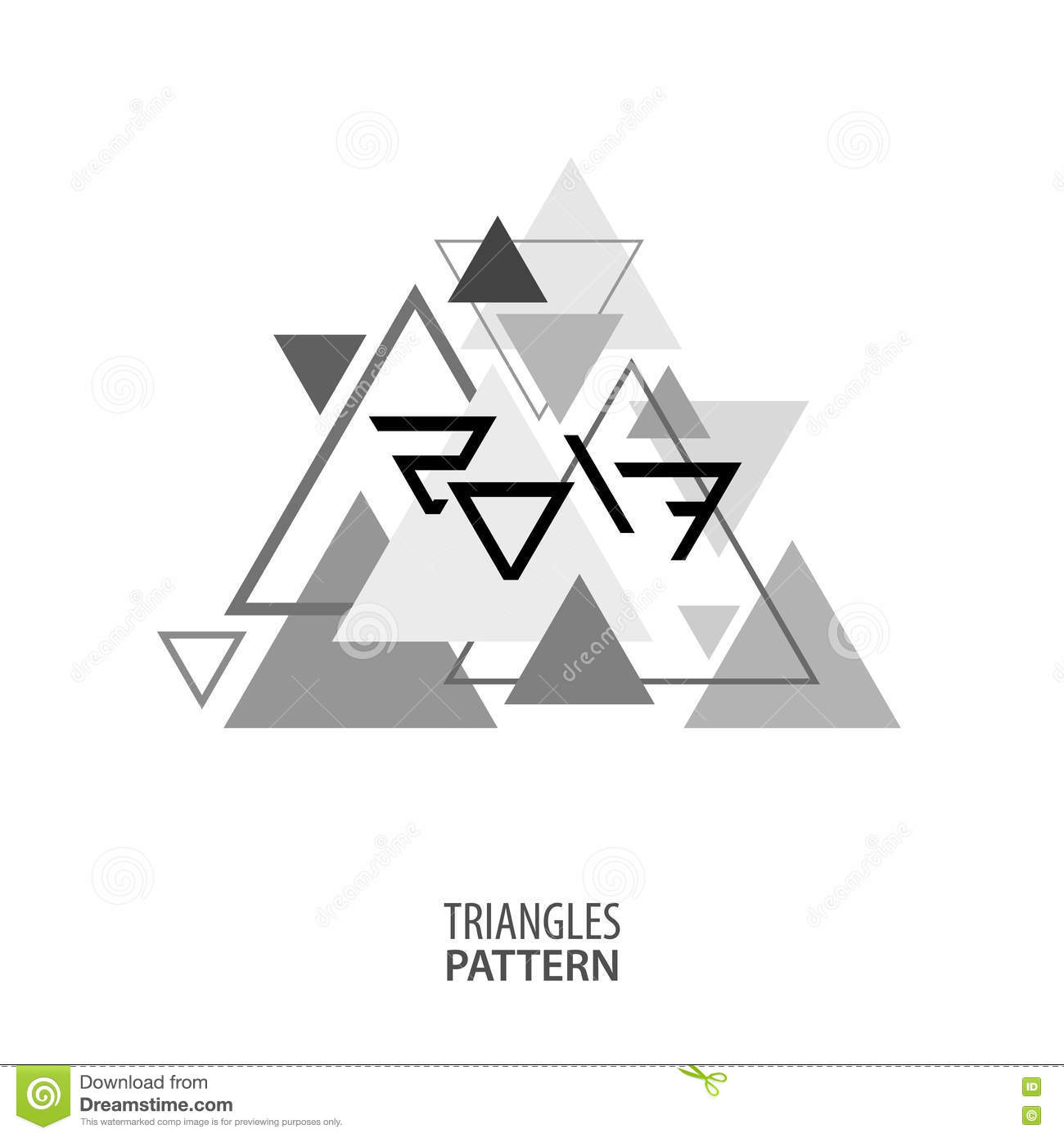 2017 on black and white triangles minimal vector graphics for Minimal art vector