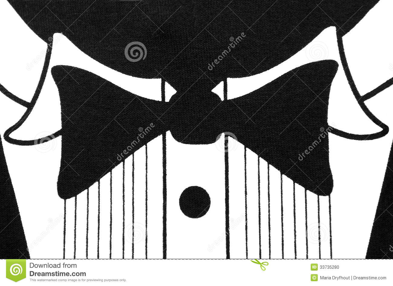 black and white tuxedo shirt design stock illustration