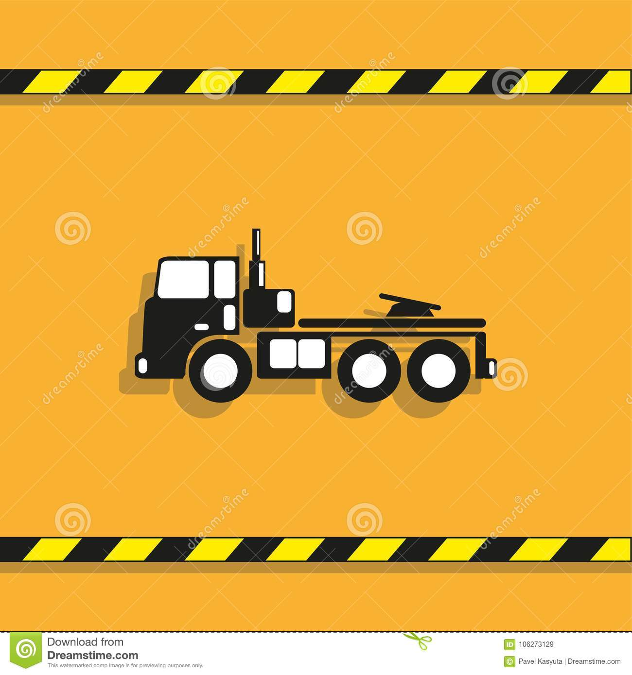 Truck Vector Icon Conditional Vector Image On A Light