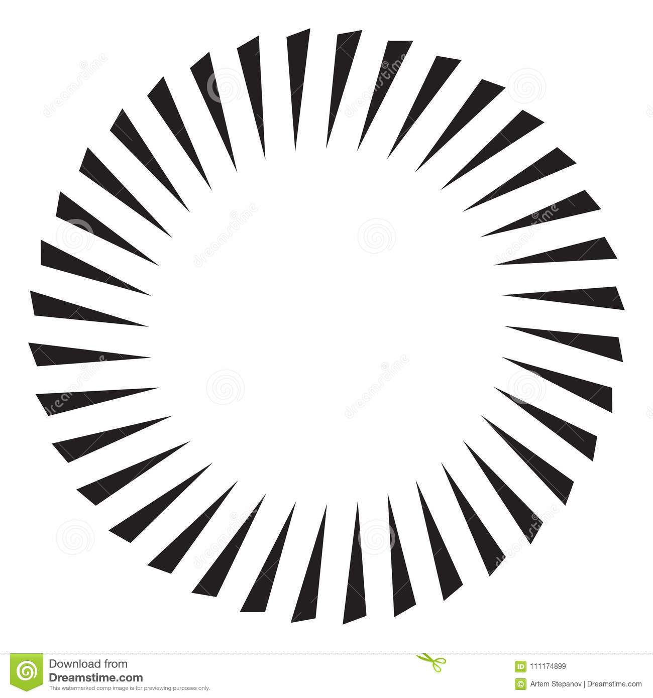 Black and white sun vector icon star pictograph speed line fast motion background