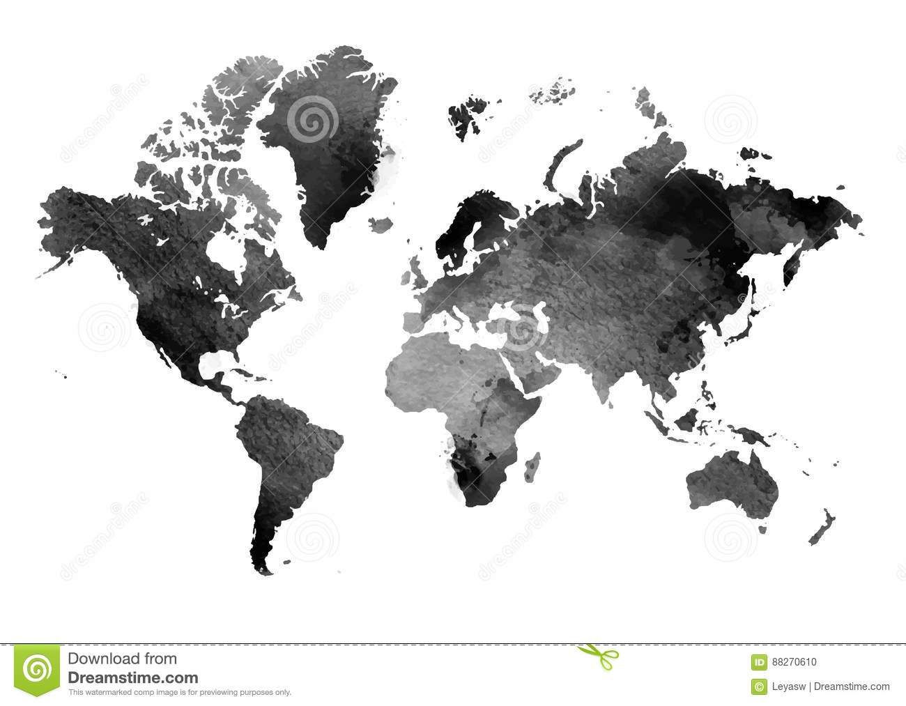White world map isolated on black background stock vector black and white vintage map of the world horizontal background isolated object stock photo gumiabroncs Gallery