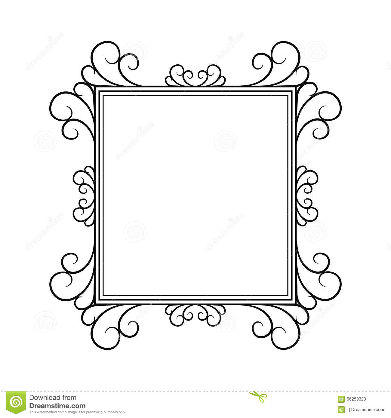 Black Frame Painting Label