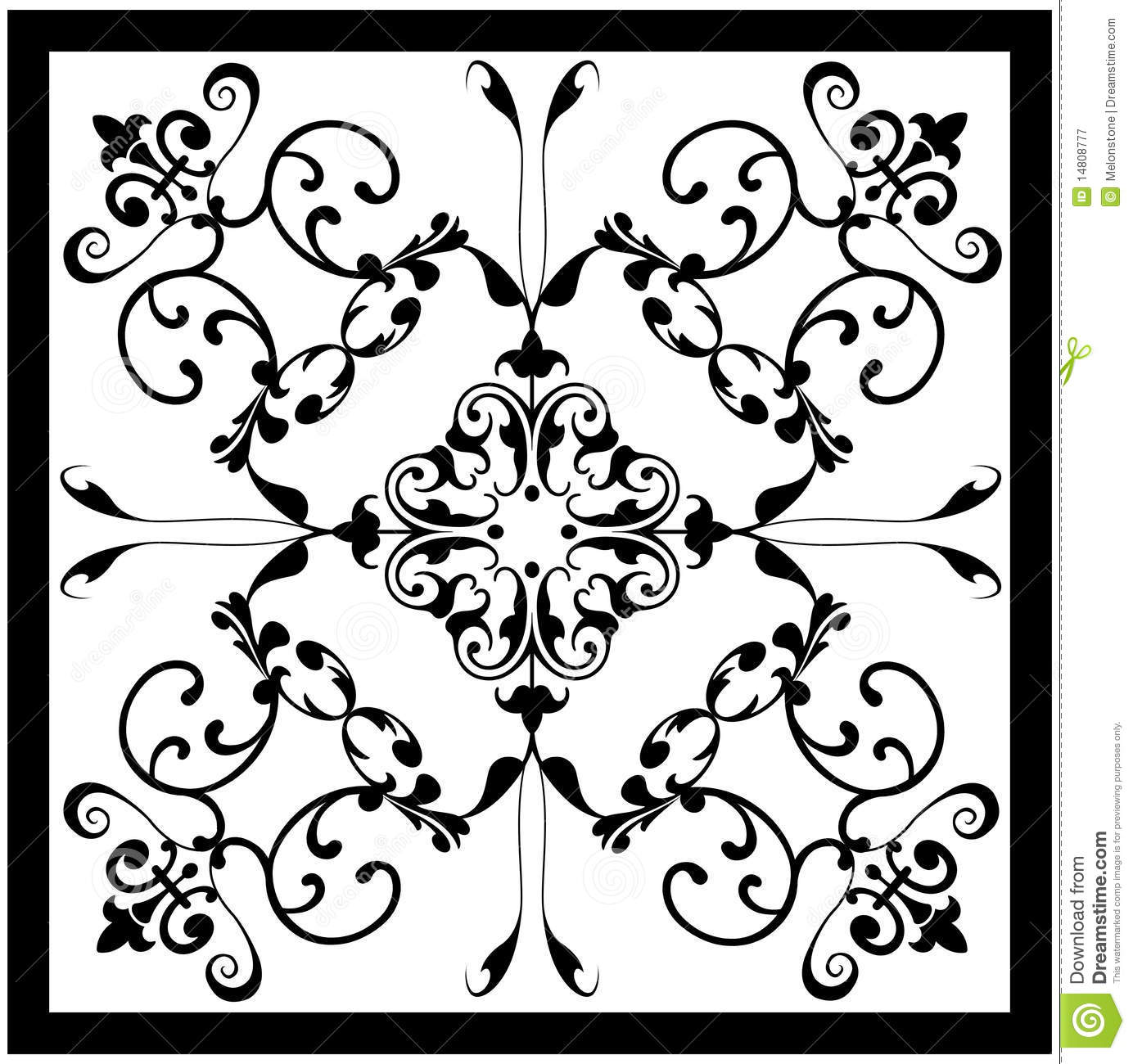 Black White Vintage Tile Royalty Free Stock Photography - Image ...