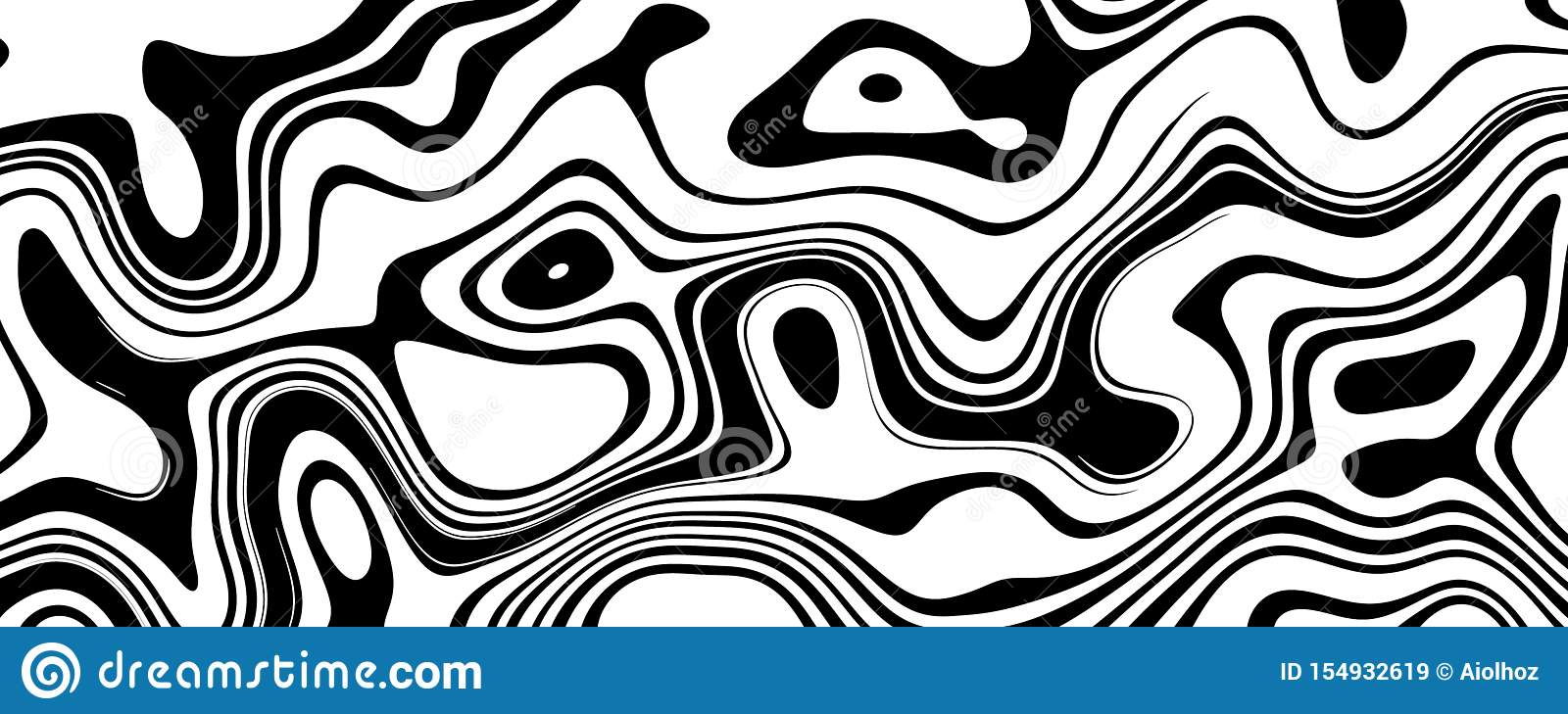 Black and White Wave Background