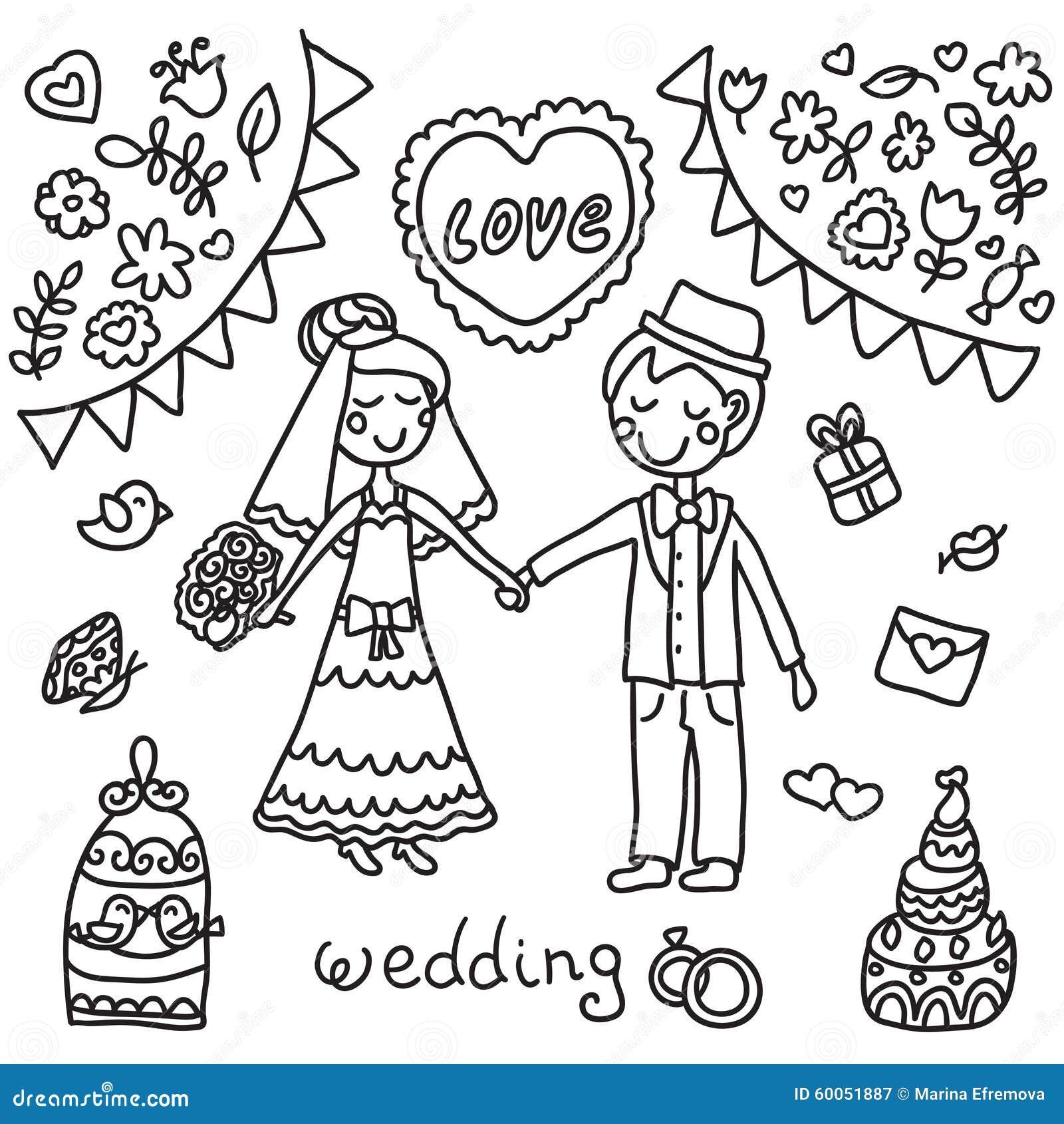 Wedding White Background: Black And White Wedding Background Stock Vector