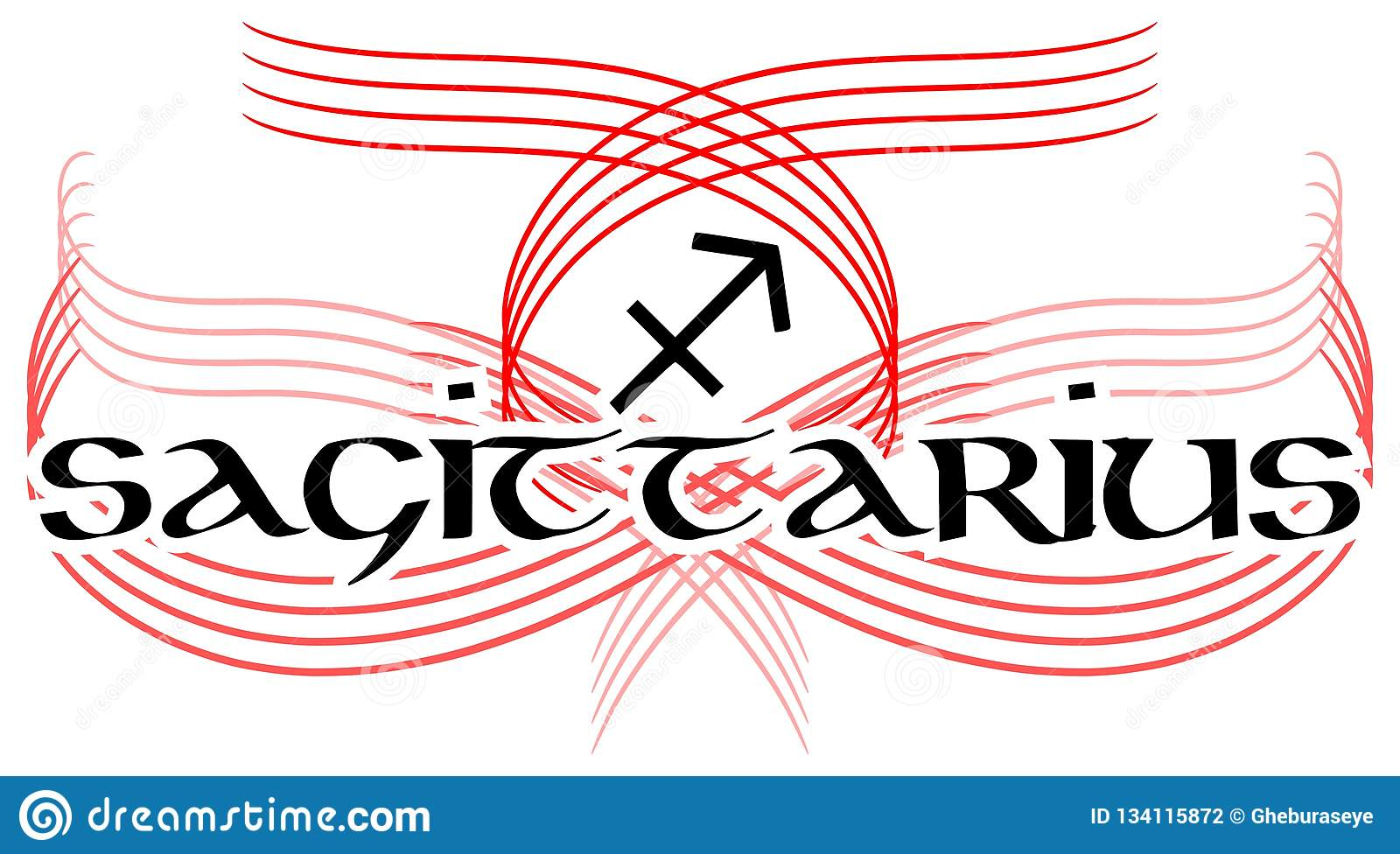 cad08b722a744 Image representing the word sagittarius isolated, ideal as a tattoo or for  projects related to the horoscope. More similar stock illustrations