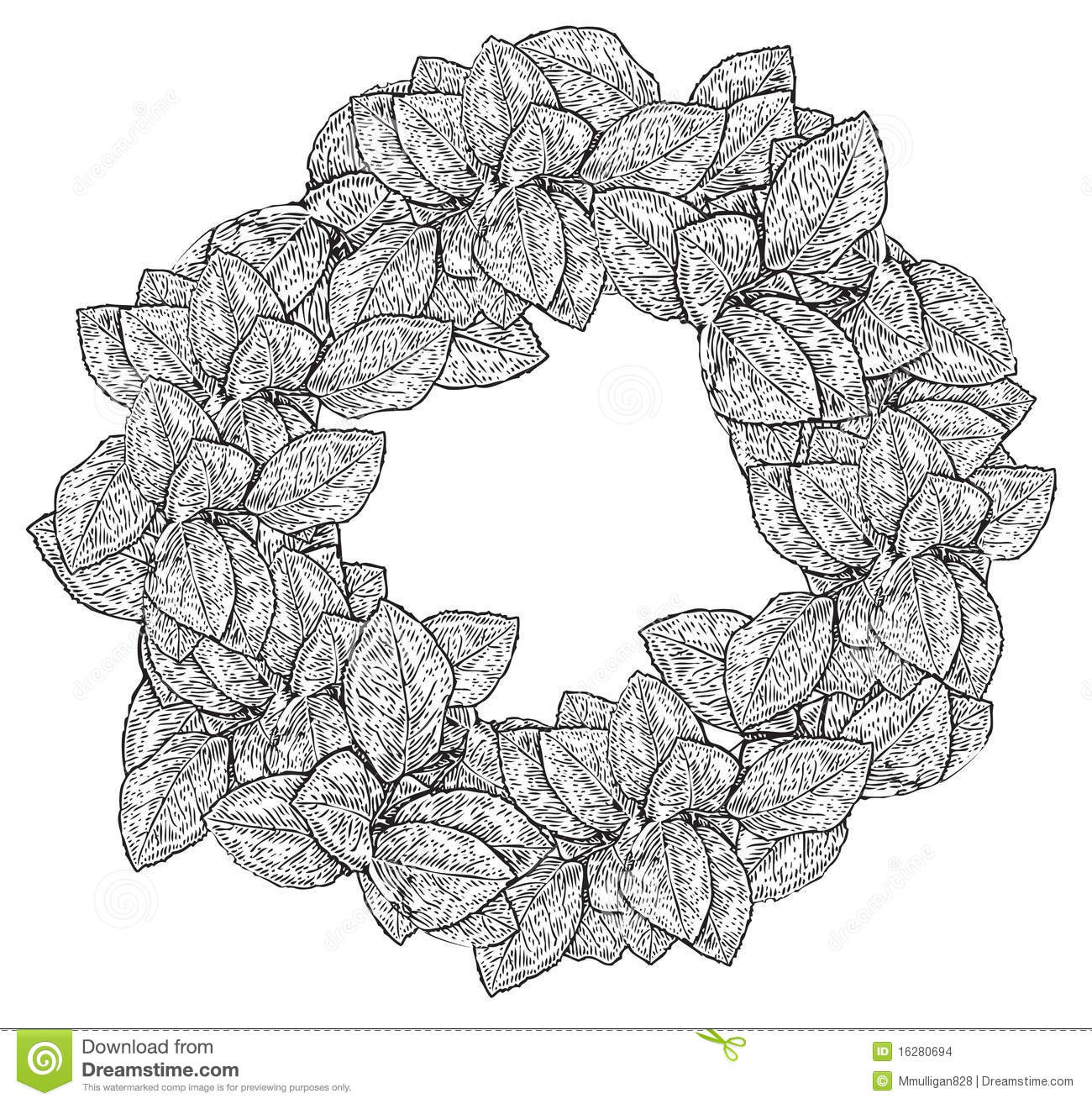Black and white floral wreath stock vector image 65241515 - Royalty Free Stock Photo Download Black And White Wreath