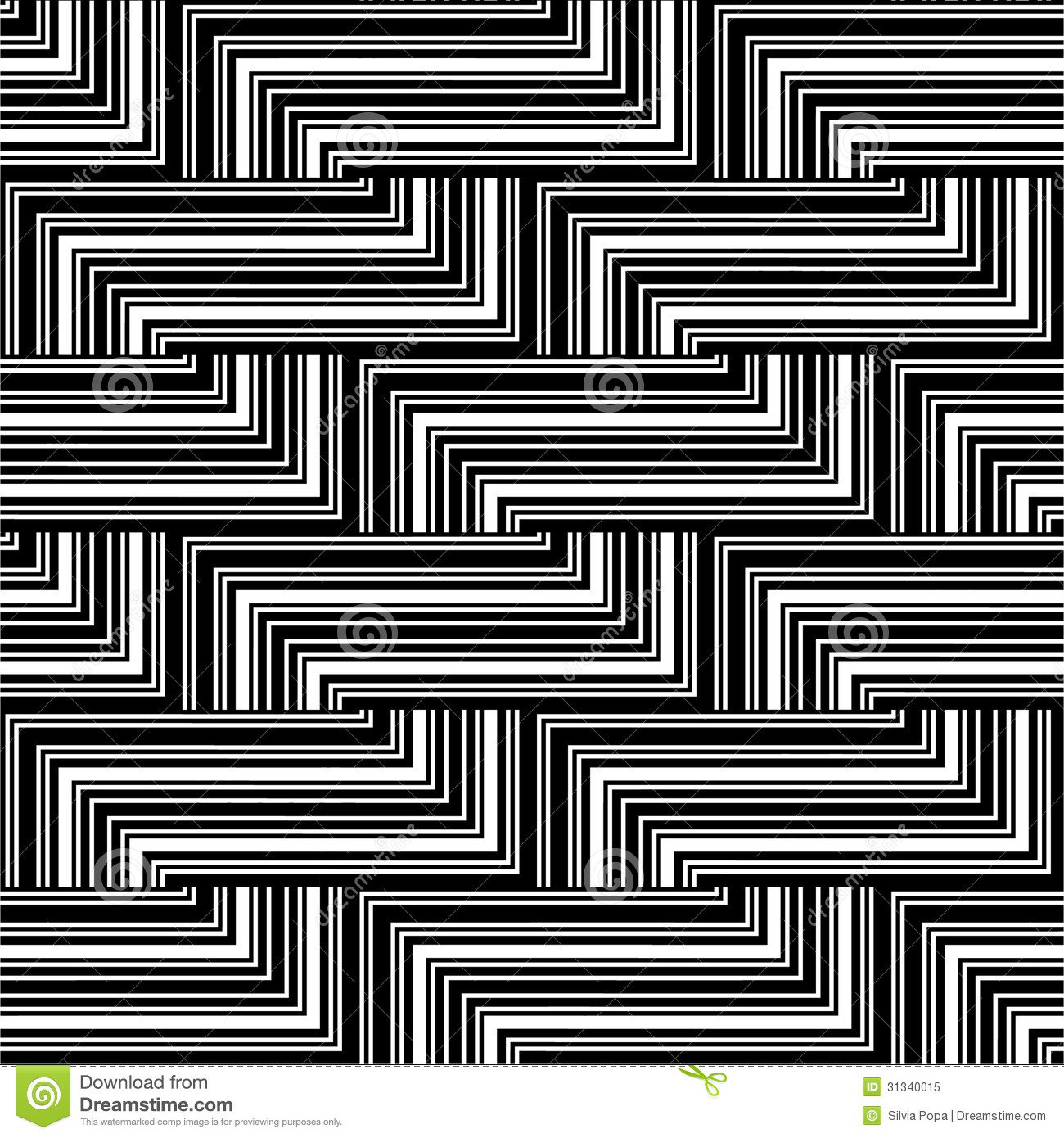 Black And White Line Designs : Black and white zigzag pattern royalty free stock photo