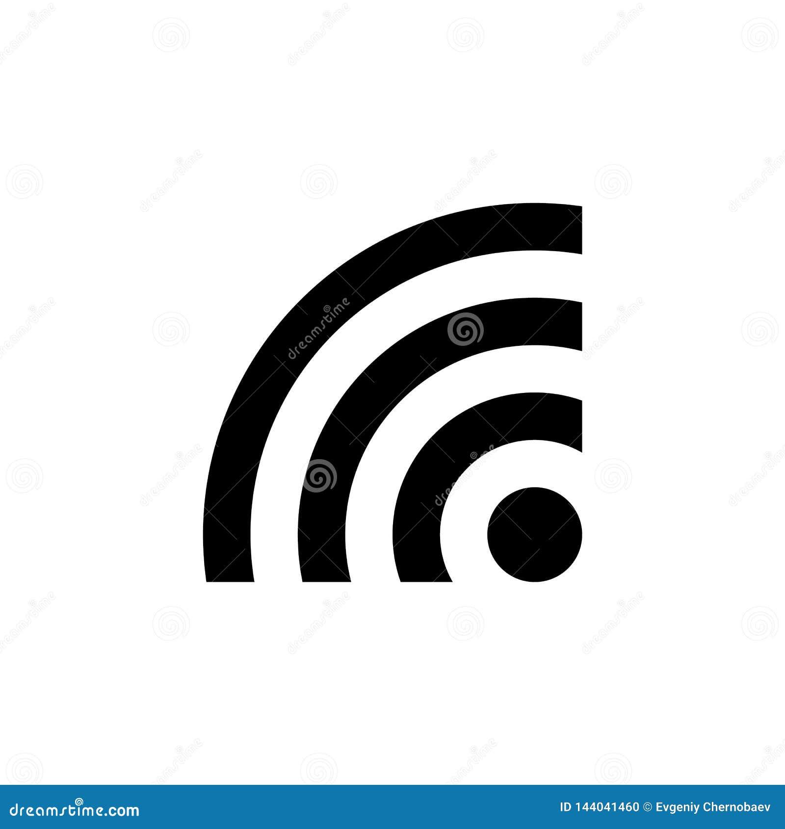 Black WI FI icon vector eps10. Wi-FI sign. WIFI icon vector, Wireless internet Sign.
