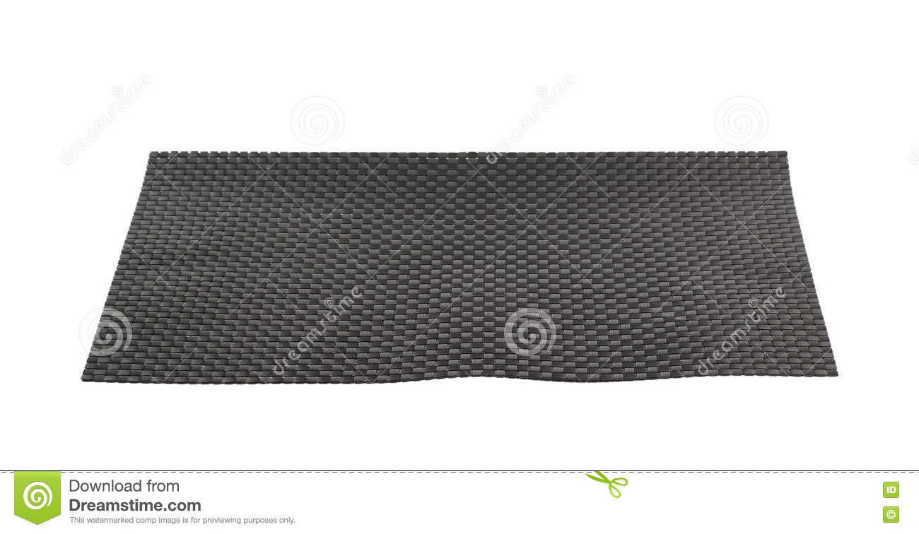Black wicker table mat isolated