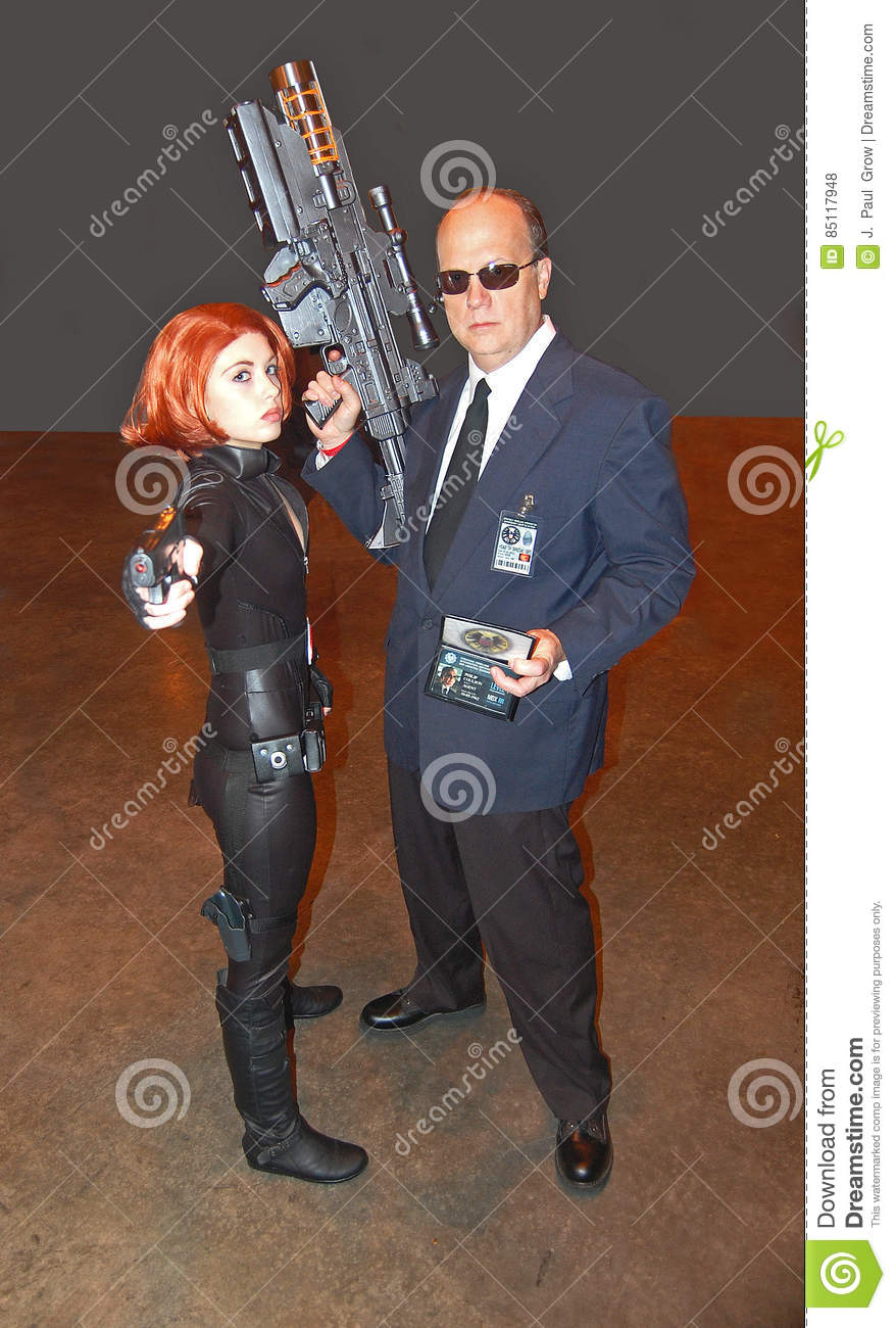 Black Widow And Agent Coulson From Marvel Movie Series