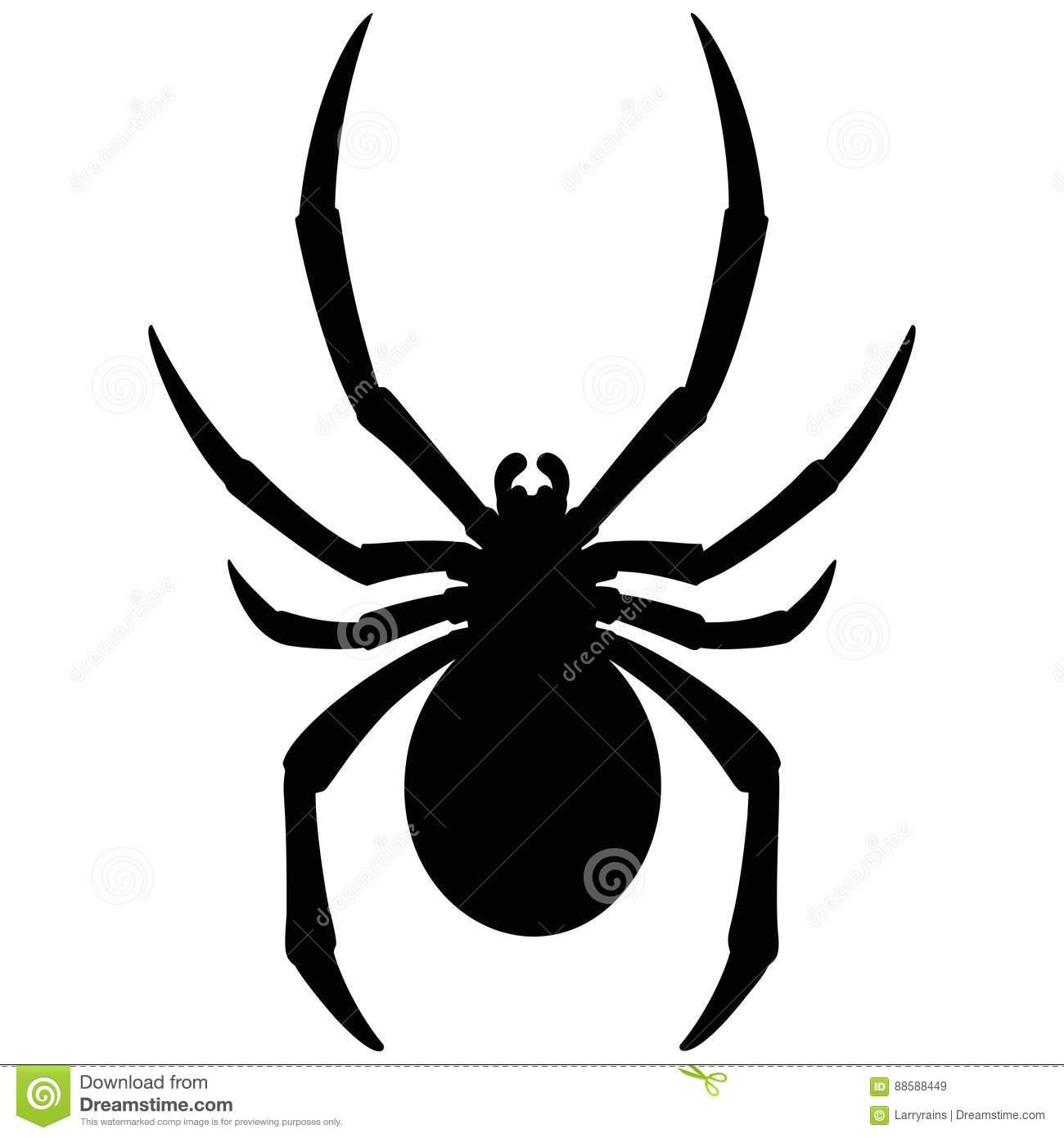 Black Widow Silhouette stock vector. Illustration of ...