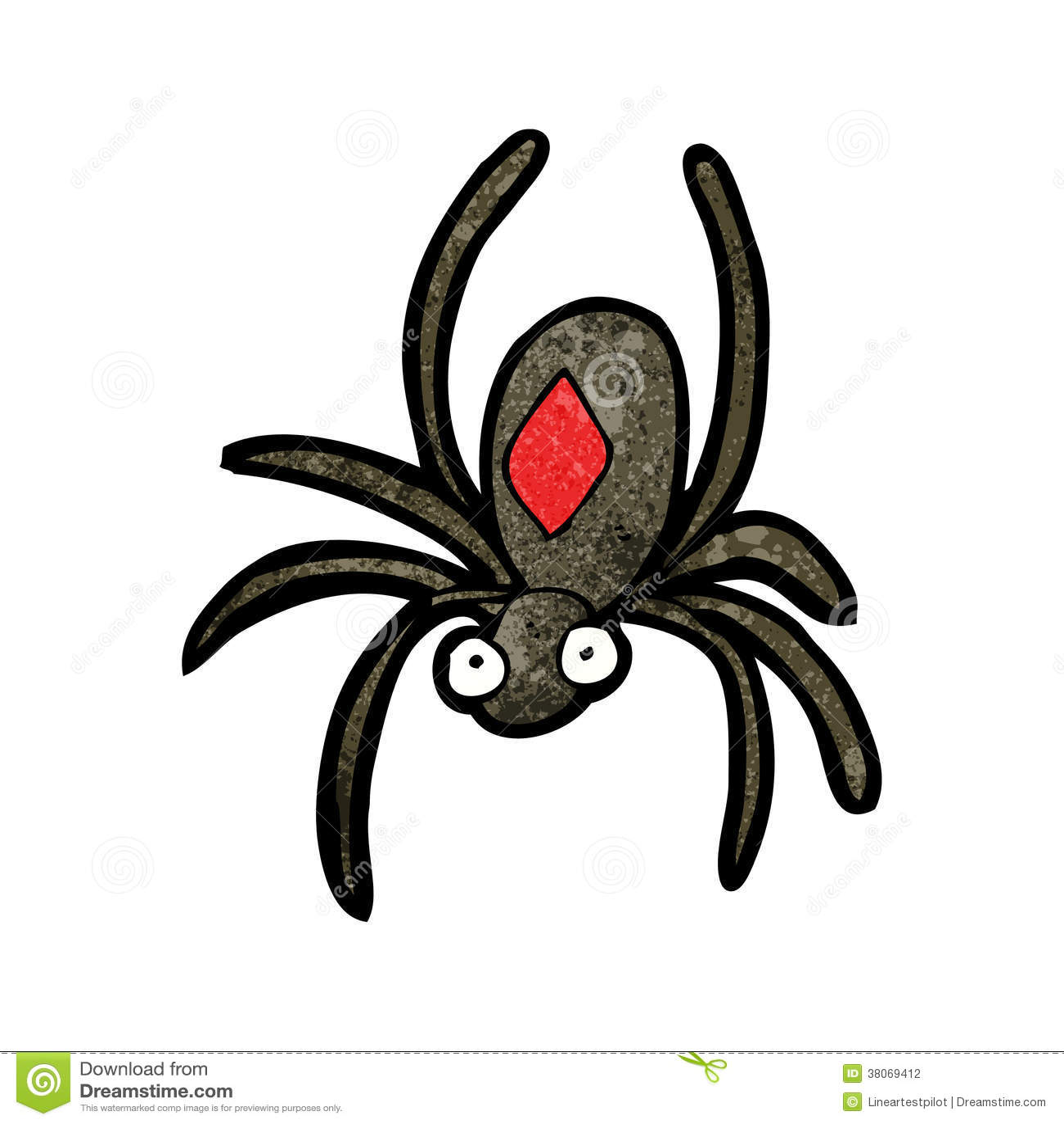 Black Widow Spider Cartoon Stock Photography - Image: 38069412