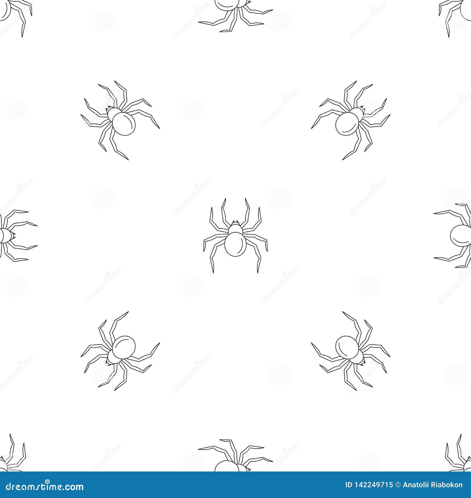 Black Widow Spider Pattern Seamless Vector Stock Vector Illustration Of Mark Black 142249715