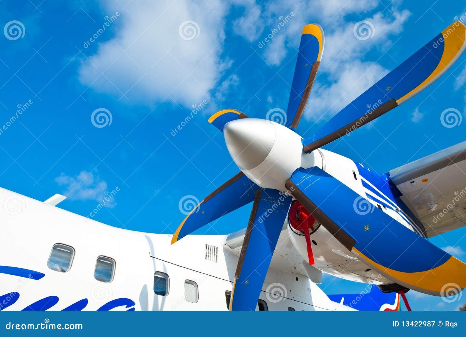 Blue Sky Motors >> Black Wings Of An Airplane Motor In Blue Sky Stock Image